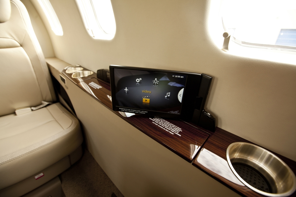 Lufthansa Technik nice Touch user interface in a Learjet 75