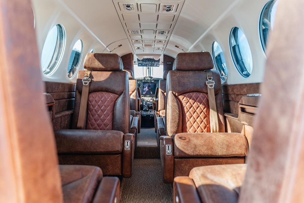 Beechcraft King Air 350 Leather seats