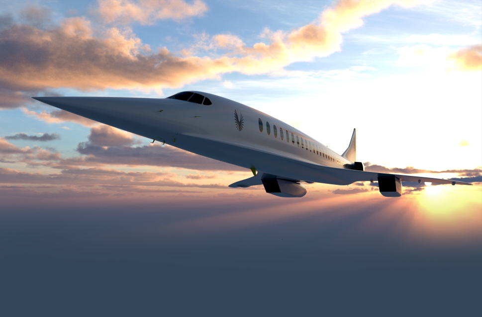 Rendering of the Rolls-Royce powered supersonic Boom Overture jet