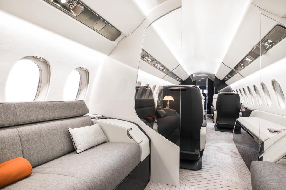 Award-winning Dassault Falcon 6X cabin