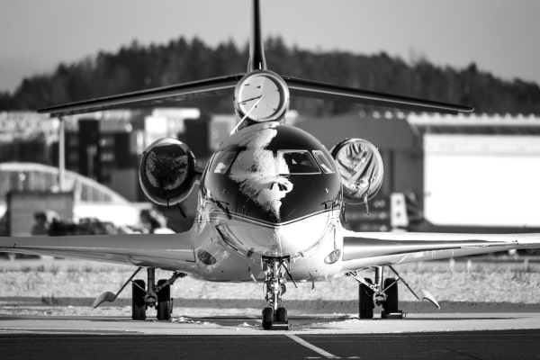 Dassault Falcon with frost on