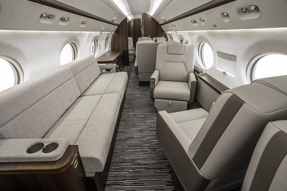 Gulfstream private jet cabin refurbishment by Duncan Aviation