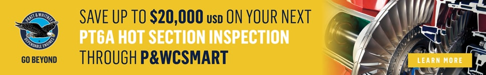 PWC PT6A Hot Section Inspection Banner