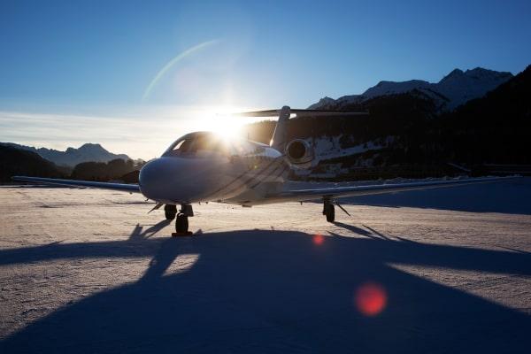 Cessna Citation Jet on snow