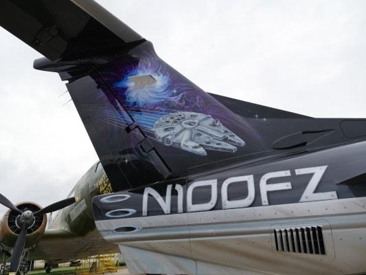 Embraer Phenom 100 jet with Star Wars tail design